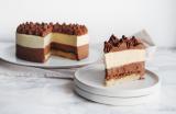Entremets passion & Trois chocolats