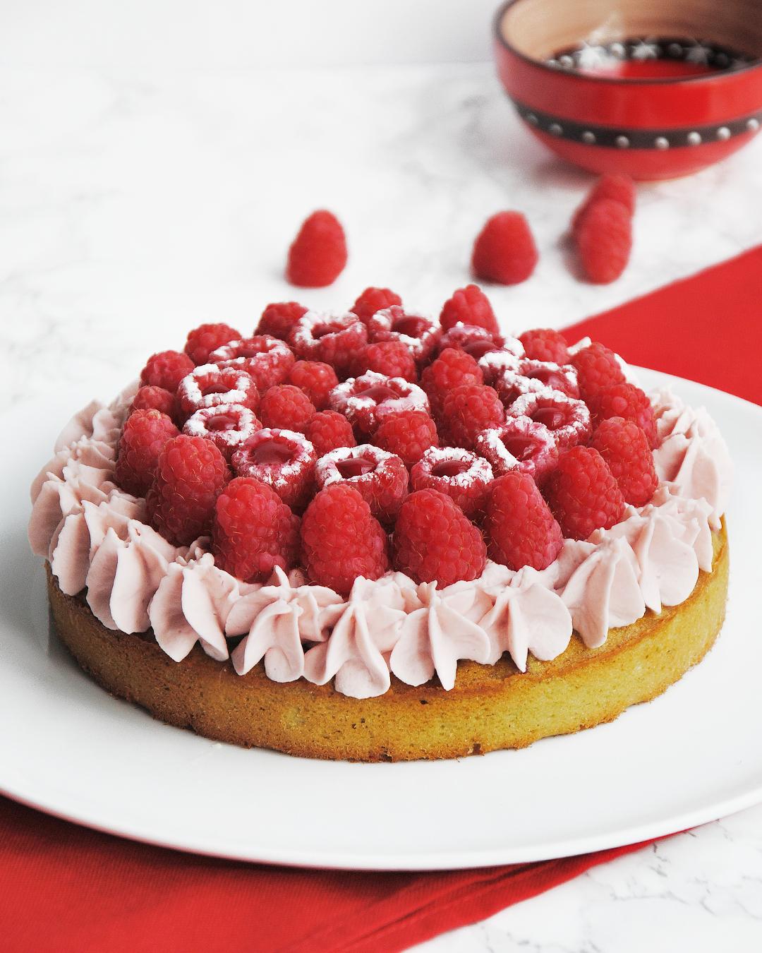 Gâteau Pistache Framboise