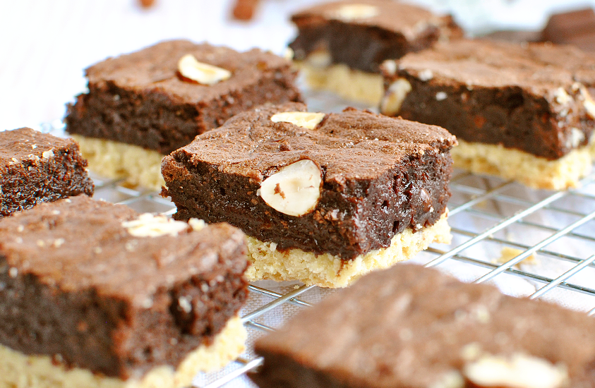 Shortbread Brownies aux noisettes